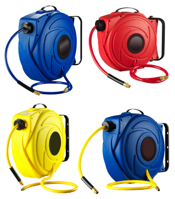 17 metre retractable hose reel in a variety of colours