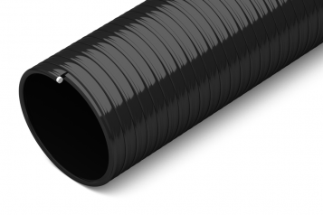 flexible black suction hose