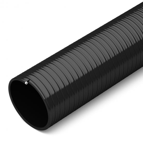 flexible black suction hose