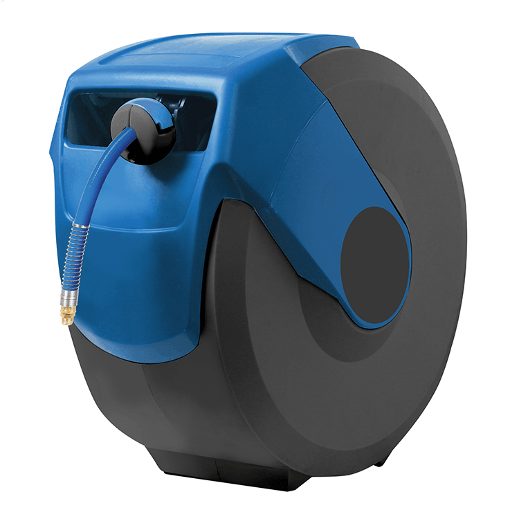 Blue Retractable Air Line Hose Reel